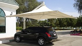 Car park shades, Tensile shades, Pergolas, Canopies, Awnings | Arabian Tents, Sharjah