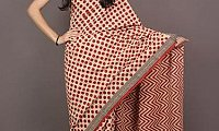 Get Affordable Bagru Print Sarees Manufacturer at Rajasthan Fabric