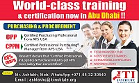 Purchasing and Procurement training contact +971-55 3230540