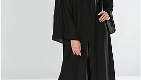 Buy Online Soft Touch Plain Black Abaya
