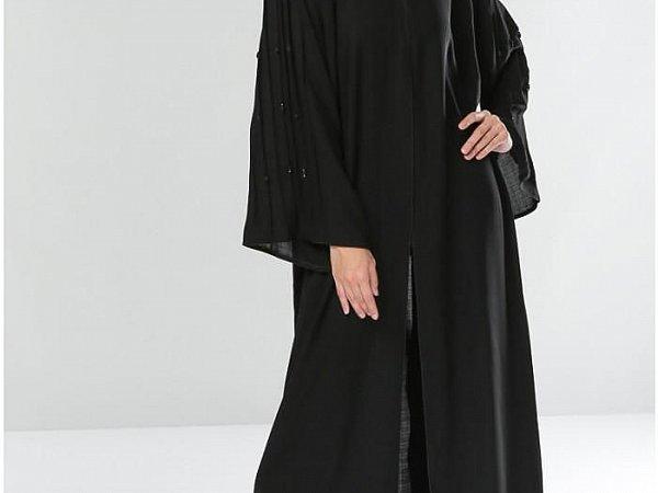 Buy Online Soft Touch Plain Black Abaya