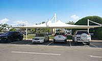 Parking shades, Tensile shade structures, Fabric shades-Supply and Installations in UAE, Oman, Saudi Arabia