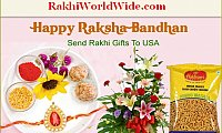 Sweeten the Brother-Sister bond with Rakhi N Sweets Delivery in USA Online
