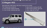 AMG Line Moldings (Silver)