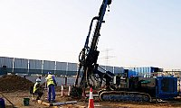 Universal Piling Company Uses Hydraulic Drills To Conduct Piling Services