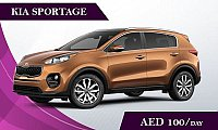 Rent the Kia Sportage @ AED 100/ Day & AED 2400/ Month  -  Rent a Car in Dubai