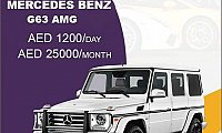 Rent the Mercedes G63 AMG @ AED 1200/ Day & AED 25000/ Month
