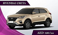 Rent the Hyundai Creta @ AED 120/ Day & AED 2300/ Month - Rent a car Abudhabi