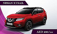 Rent the Nissan Xtrail @ AED 200/ Day & AED 2754/ Month - Rental Cars Finder