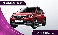 Rent the Peugeot 2008  AED 105 Day & AED 2500 Month - Car rental dubai